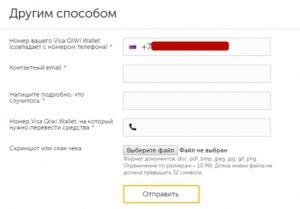 Контактный email и номер кошелька