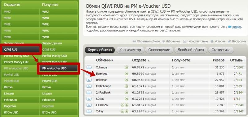 Обменять билайн на qiwi ощадбанк