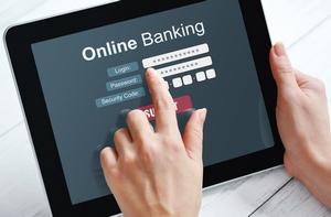 планшет с онлайн банкингом